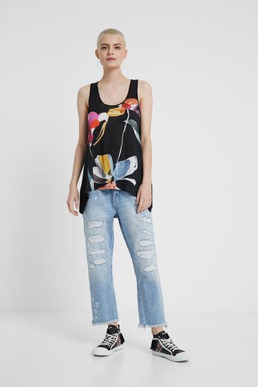 Floral tank top T-shirt | Desigual