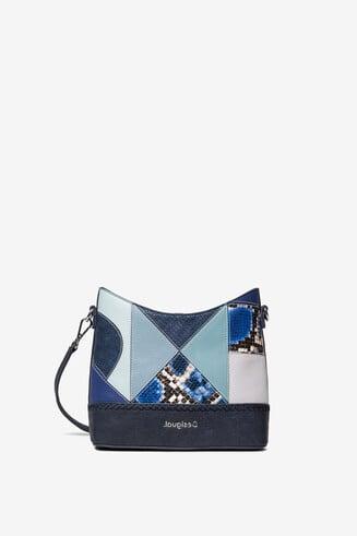 Blue medium patch bag