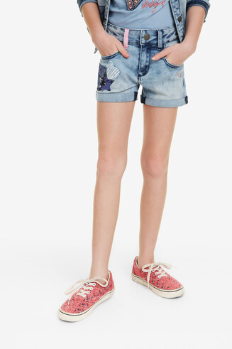 Denim Patch Shorts Maestre