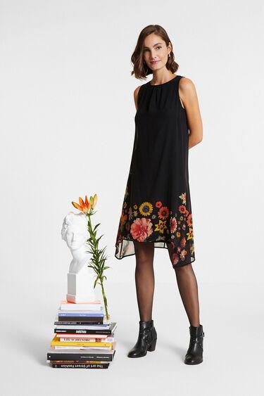 Robe fleurie sans manches | Desigual