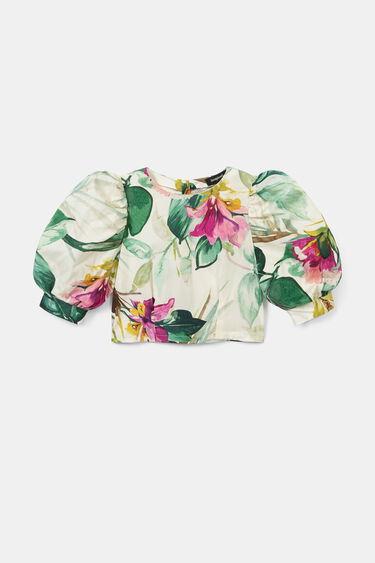 Korte blouse met rits achter | Desigual