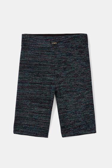 Leggings curtas de lurex | Desigual