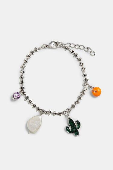 Pulseira corrente prata charms | Desigual