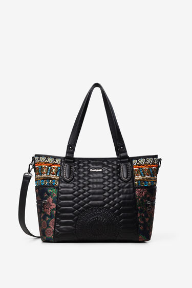 Shopping bag embroidered sides | Desigual
