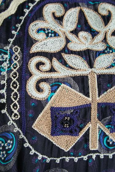 Midi dress embroidered halter | Desigual