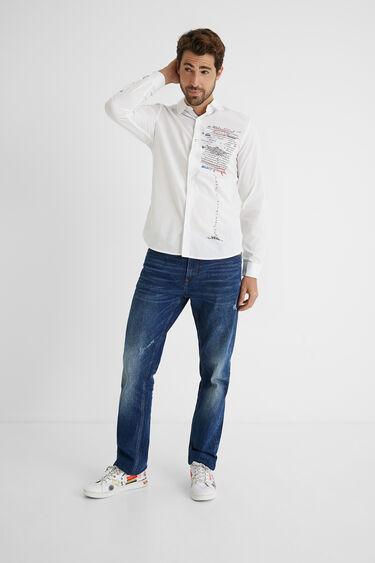 Shirt message 100% cotton   Desigual
