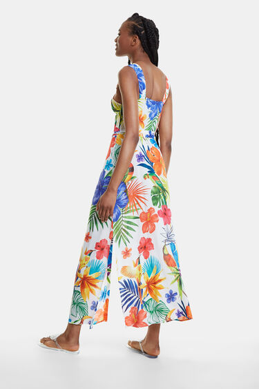 Long and floral beach dress | Desigual