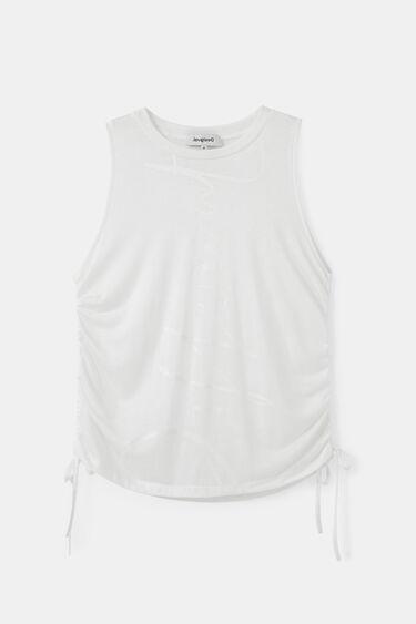 T-shirt gathered sides | Desigual