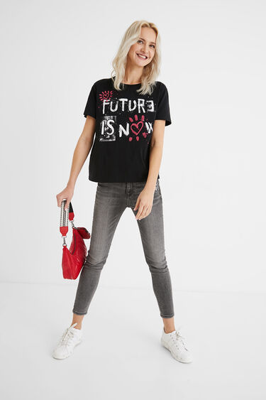T-shirt hearts 100% cotton | Desigual