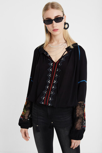 Blouse boho à volants