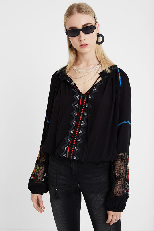 Flounced boho blouse | Desigual
