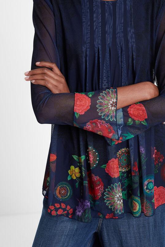 Floral mandala flounced T-shirt | Desigual