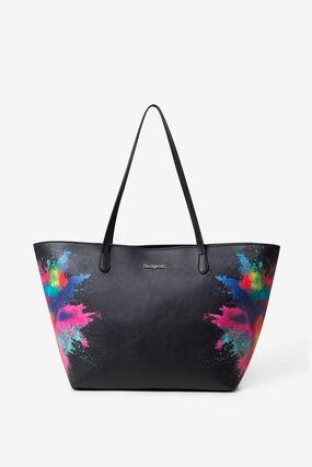Black PU Bag Holi Capri