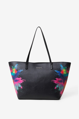 Black PU Bag Holi Capri