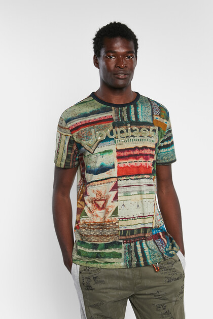 Ethnic patchwork T-shirt