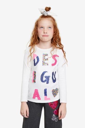 Basic-Shirt mit Wendepailletten