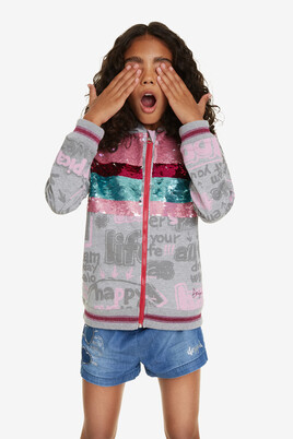 Sequinned Hooded Sweat shirt Dickens