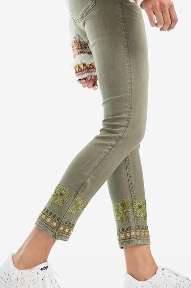 Skinny ethnic jean trousers | Desigual