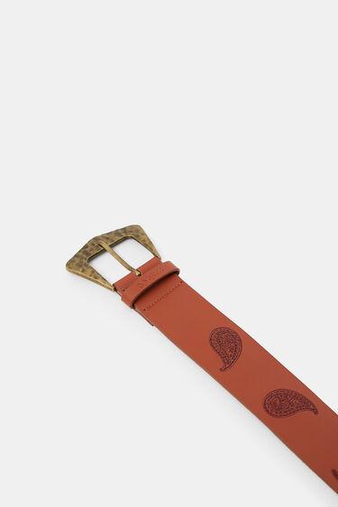 Leather belt paisley | Desigual