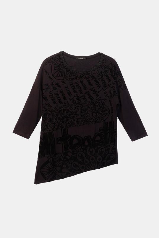Camiseta asimétrica manga 3/4 | Desigual