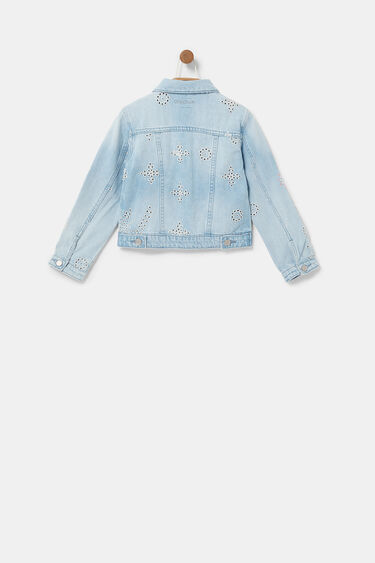 Denim jacket Swiss embroidery | Desigual