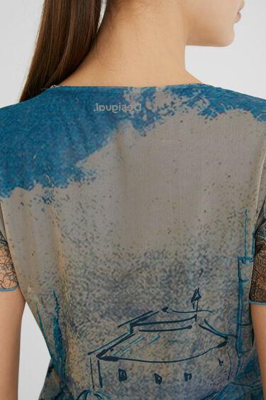 Slim T-shirt tulle landscapes | Desigual