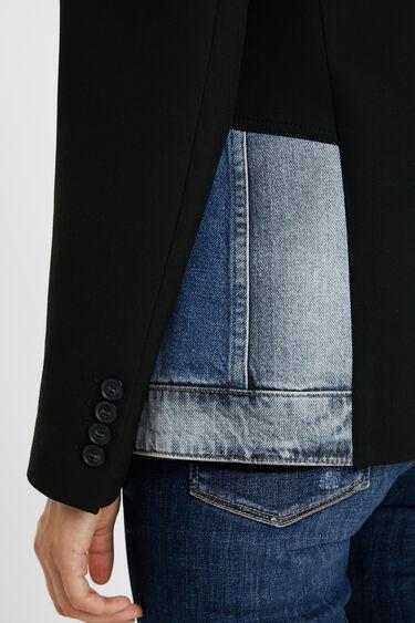 Slim hybrid bimaterial blazer | Desigual