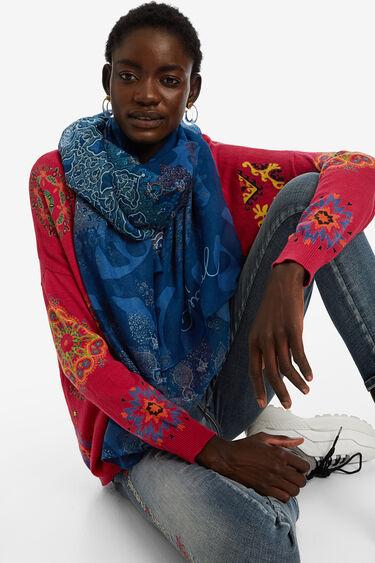 Rectangular oriental mandala scarf | Desigual