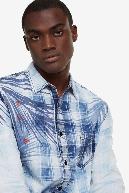 Tropical blue tartan shirt Justin | Desigual
