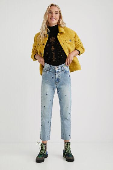 Straight ankle grazer jeans mandalas | Desigual