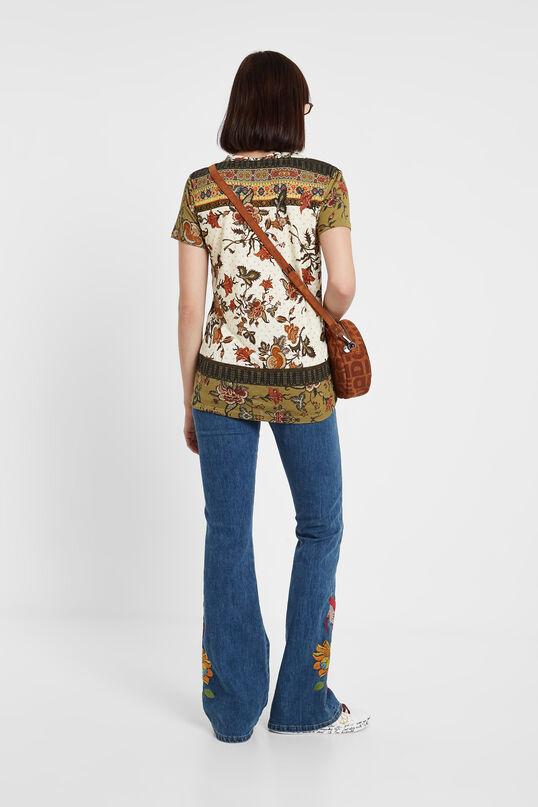 T-shirt ethnique floral | Desigual