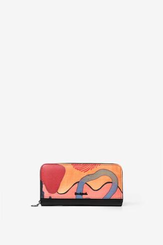 Arty rectangular coin wallet