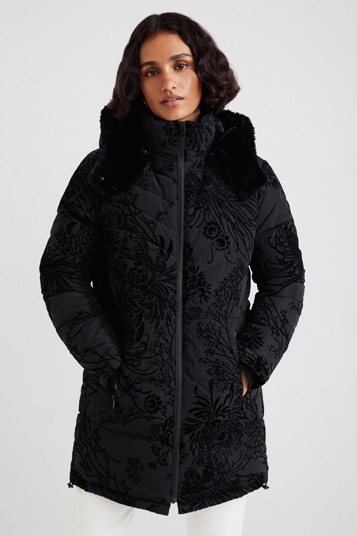 Slim padded jacket hood - BLACK - XXL