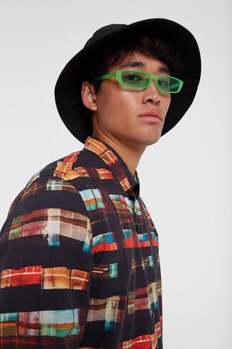 Arty tartan shirt