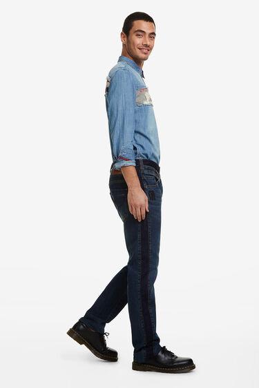 Pantalons denim rectes doble cintura | Desigual