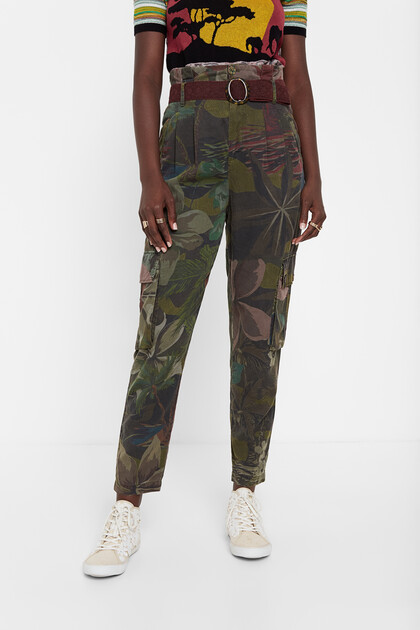 Pantalon cargo floral Tencel™