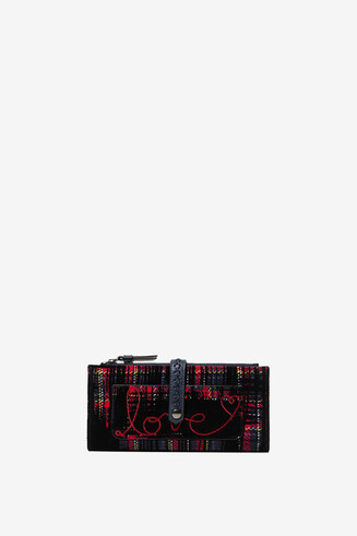 Rectangular tartan coin purse