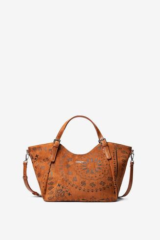 Leather-effect boho bag