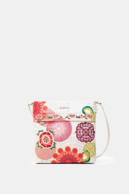 Square floral sling bag