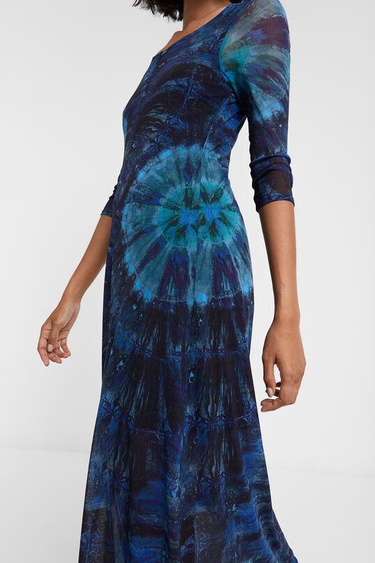 Long tie dye viscose dress | Desigual