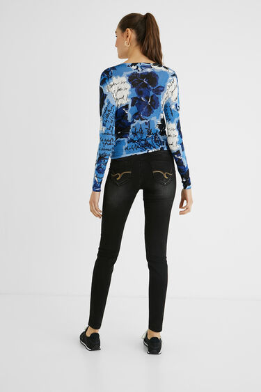 Knit print jumper bow | Desigual