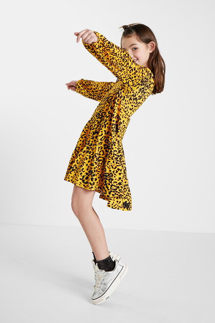 Vestit trapezi lleopard