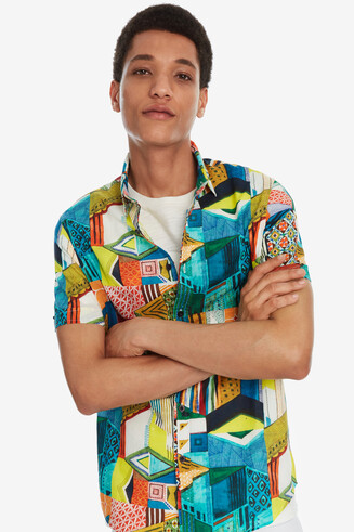 Multicolour Patch Shirt Julio