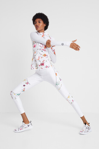Floral print running jacket