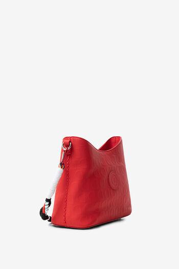 Red bag in logomania | Desigual