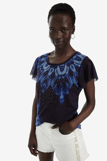 スタッズ付き半袖Tシャツ | Desigual