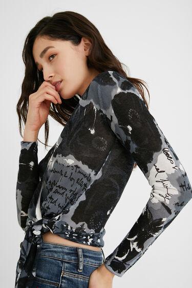 Knit print jumper bow | Desigual
