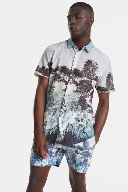 Camisa paisagem balinesa