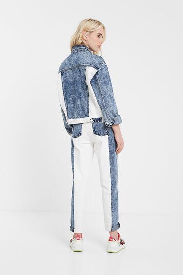 Bicolour patch jean jacket | Desigual