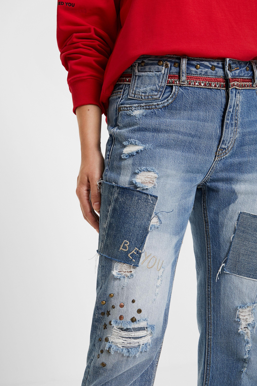 Jeans boyfriend borchie | Desigual